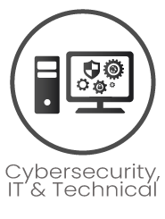 Cybersecurity IT Technical Icon with title