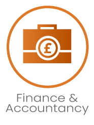 Finance Accountancy Icon with title
