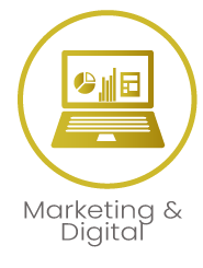 Marketing Digital Icon with title