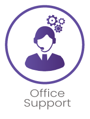 Office support Icon with title